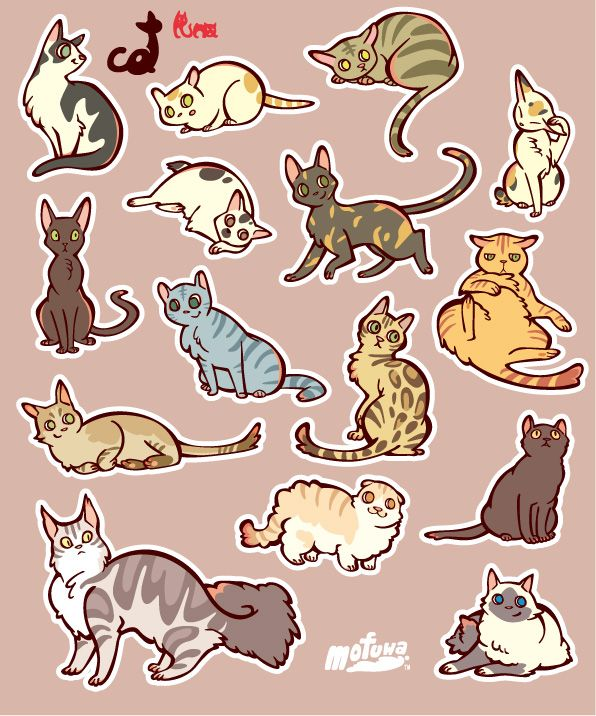 CATS sticker by mofuwa.deviantart.com on @DeviantArt