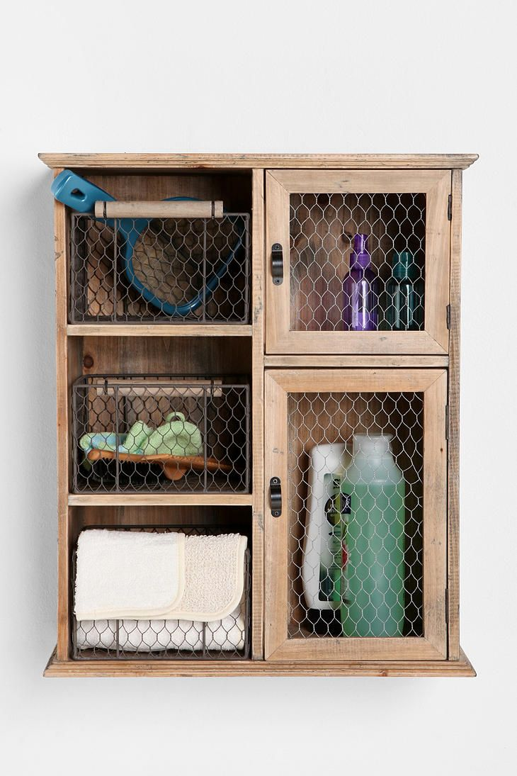 Can you tell I need help in our bathroom?  >>Bathroom storage, vintage, rustic, uo.