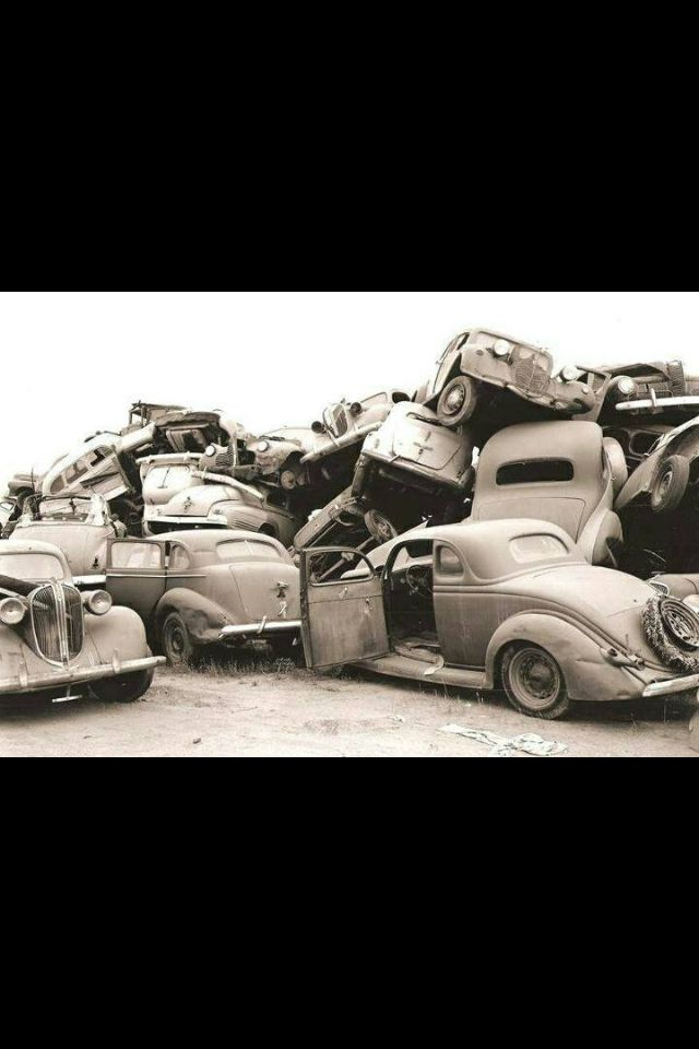 53 best junk yards images on Pinterest | Abandoned cars, Ruins and ...