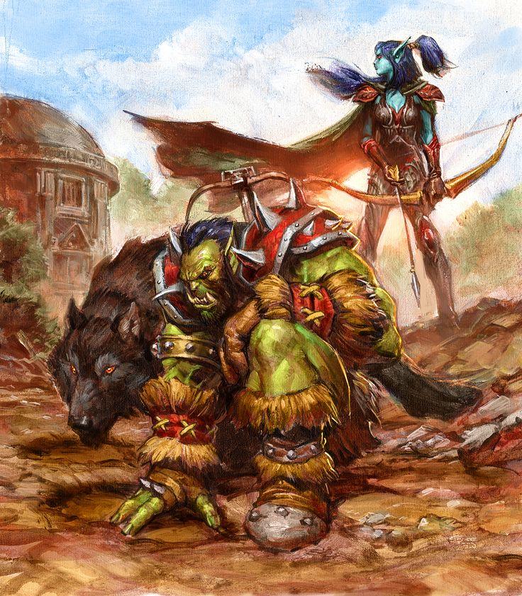 #hearthstone #wowtcg #warcraft #elfe #elf #orc #chasseur #hunter