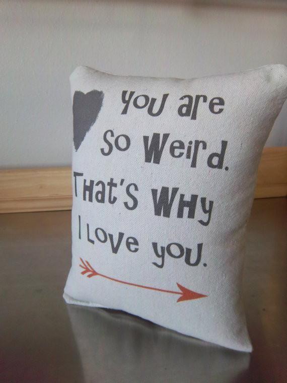 Weird pillow guy gift boyfriend birthday gift funny cotton cushion – Sweet Meadow Designs