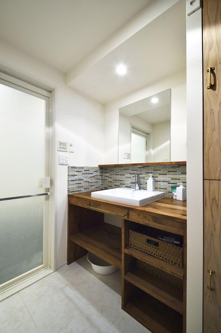 リフォーム・リノベーションの事例|洗面|施工事例No.498無垢の床と珪藻土は子育てハウスのStandard!|スタイル工房