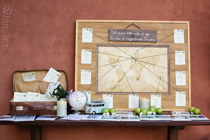 Tableau matrimonio a tema viaggi + il tempo delle mele | Travel + apples themed wedding tableau