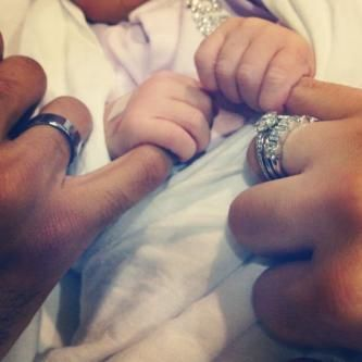 I borrowed this idea for our family shot...my son, my husband and my hands together in the shot. LOVED it! <3