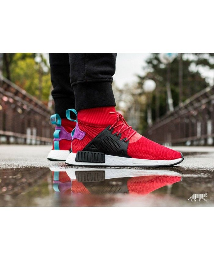 adidas nmd r1 mens red
