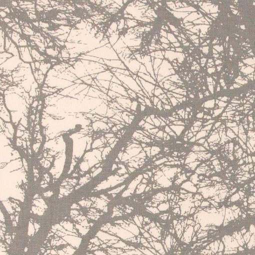 Vevet hvit m grå grener