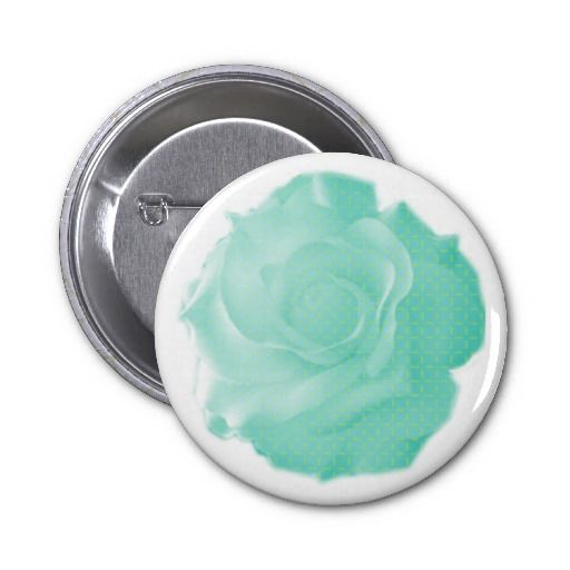 Neo Rose in Aqua Button