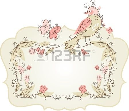 Vector Bird and frame for your text