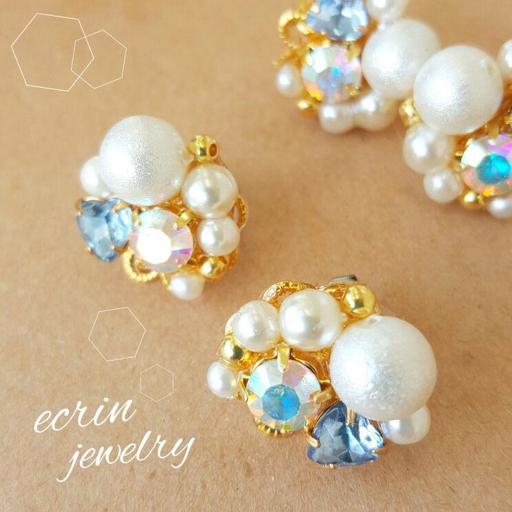 ♡Facebook♡ 『ecrin jewelry』 ♡instagram♡ 『ecrin jewelry』or『sh0517ko』 ♡Pinterest♡ 『ecrin jewelry』 #ecrinjewelry #ecrin #handmade #handmadeaccessories #handmadejewelry #accessory #jewelry #cute #cool #bijou #wedding #vintage #design #candy #ハンドメイド #ビジュー #パール #ヴィンテージ #ピアス #イヤリング #ネックレス #イヤーカフ #ブレスレット #可愛い #お上品 #ジュエリー #アクセサリー #ブライダル #結婚 #私好み