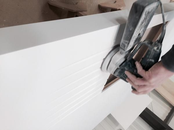 "RH Displays & Exhib on Twitter: ""Super White @AvoniteSurfaces @idsurfaces solid surface in production in the @RHDisplays workshop #SolidSurface http://t.co/3gocIXqkru"""