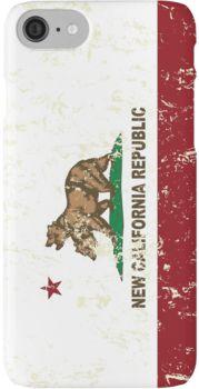 New California Republic Flag Distressed iPhone 7 Cases