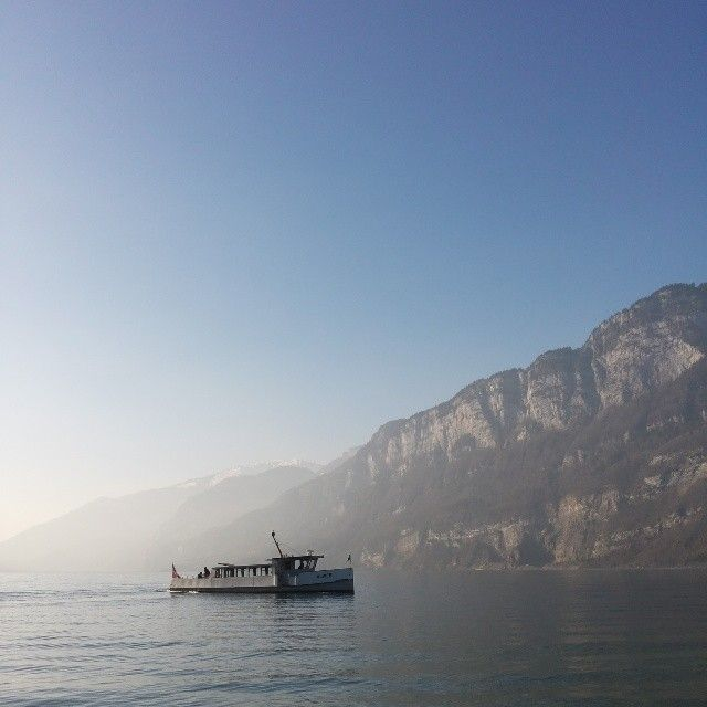 Boat on the #LakeWalen (#Walensee) in the #Heidiland Holiday Region. More on www.instagram.com/swissheidiland