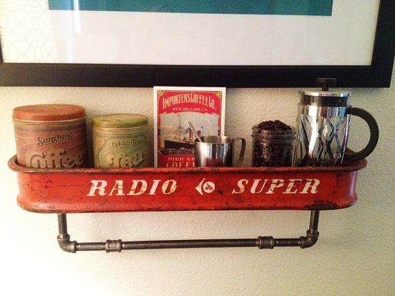 Repurposed Vintage Red Radio Flyer Wagon by ThePrimitiveProgress