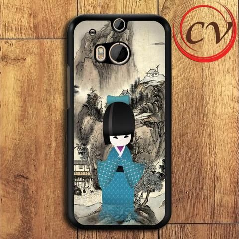 Japanese Doll HTC One M8 Black Case