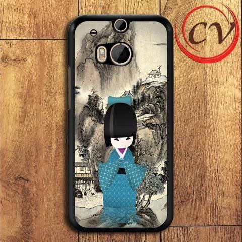 Japanese Doll HTC One M8 Mini Black Case