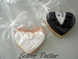Şeker Tatlar Butik Kurabiye & Butik Pasta: Düğün- Nikah Butik Kurabiye:Gelin & Damat