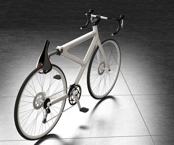 Horsey bicycle kit—cool. the seat swivels down to lock the rear wheel. JK