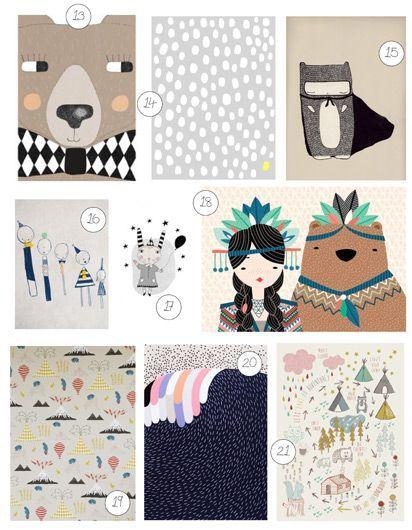 21 art prints for kids!