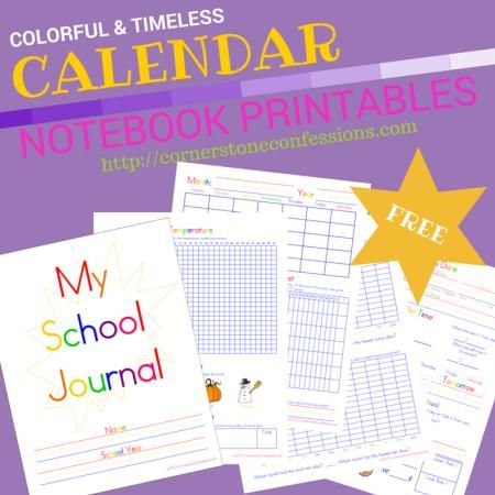 Timeless Calendar Notebook Printables FREE