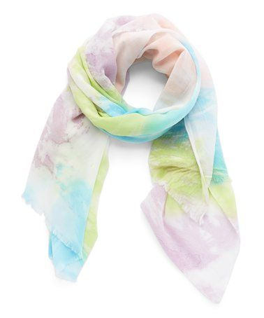 Look what I found on #zulily! Lime & Purple Watercolor Scarf #zulilyfinds