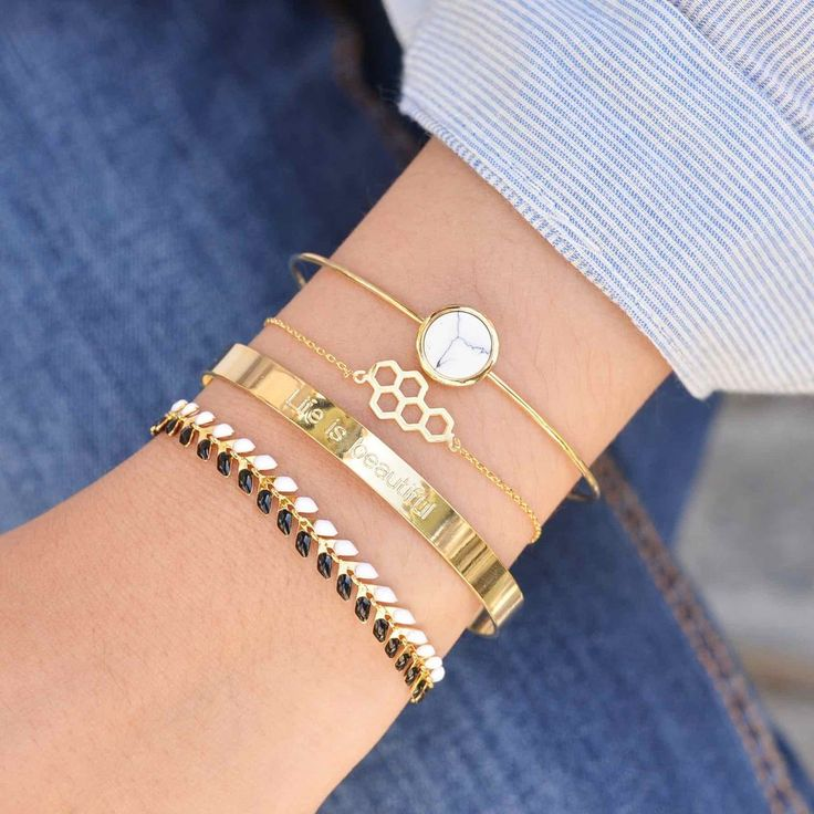 Majolie  - Mini Ruche Gold Bracelet -   - 1