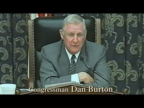 Congressman Dan Burton Questions FDA Representative Over Mercury In Vaccines - YouTube