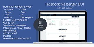 Facebook Messenger BOT GUI Builder v1.11.0