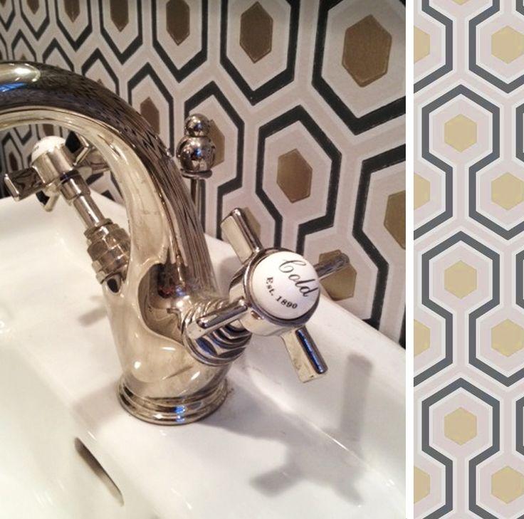 papier peint toilettes cole and son d co pinterest. Black Bedroom Furniture Sets. Home Design Ideas