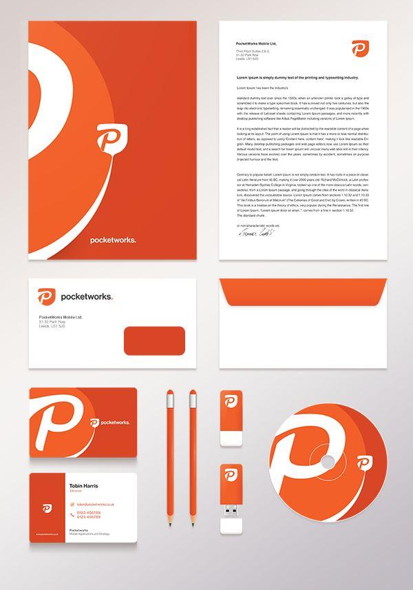 Pocketworks by Tomasz Zagórski, via Behance | #stationary #corporate #design #corporatedesign #logo #identity #branding #marketing <<< repinned by an #advertising agency from #Hamburg / #Germany - www.BlickeDeeler.de | Follow us on www.facebook.com/BlickeDeeler