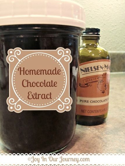 Homemade Chocolate Extract http://www.joyinourjourney.com/1/post/2013/10/homemade-chocolate-extract-delicious-and-frugal.html