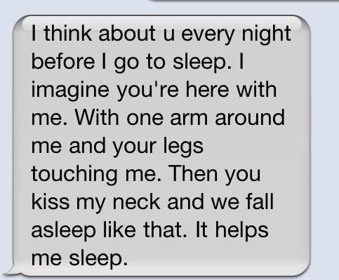 long distance relationship makes me think like this...this is seriously how i fall asleep