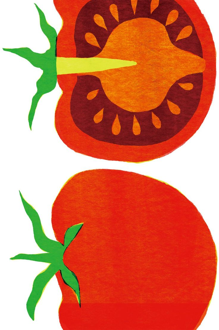 #tomatoes #tomaten #illustration 1st Floor / Framed On Wall In The Montaigne Day Care Boys And Girls Play Kitchen / Kazuaki Yamauchi