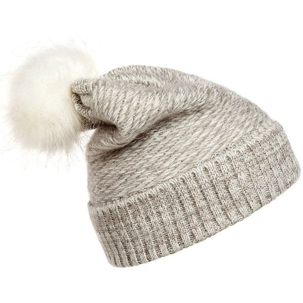 Winter Knit Beanie Hat (39 BRL) ❤ liked on Polyvore featuring accessories, hats, toca, beanie hat, knit beanie hat, beanie caps, knit beanie and knit cap beanie