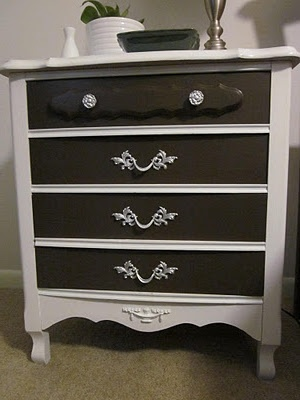 Furniture redo! Maybe try this to the piece in my bathroom--- but then I will have to change the theme of my bathroom.