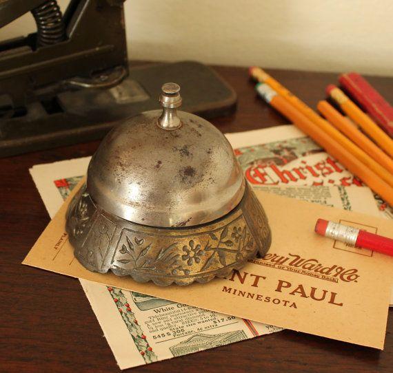 Hotel Desk Bell by TheOrangeHorse on Etsy, $ 9.