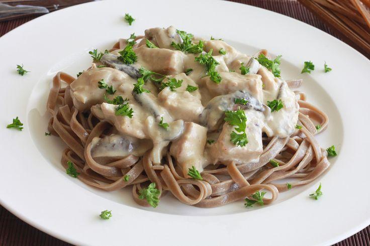Porcini Mushroom Pasta with Chicken, Shiitakes and Gorgonzola | Recipe