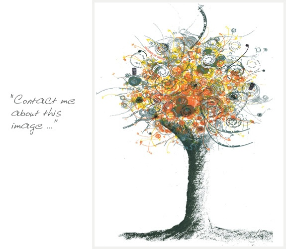tree tattoo inspiration (with color, meaningful words/names emerging ...)