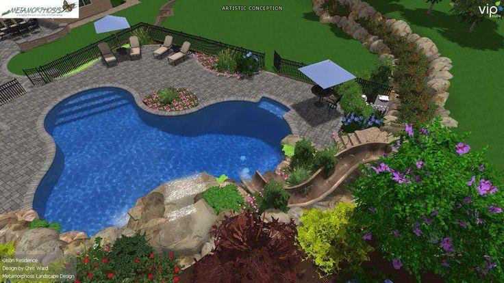 100 best long island landscape design images on pinterest for Pool design tool