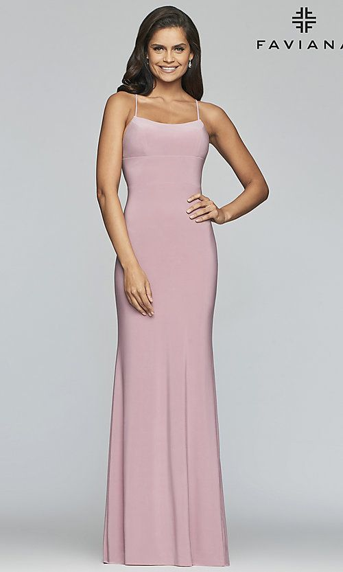 b5d406d022c Image of scoop-neck open-back prom dress by Faviana. Style  FA-S10205 Back  Image