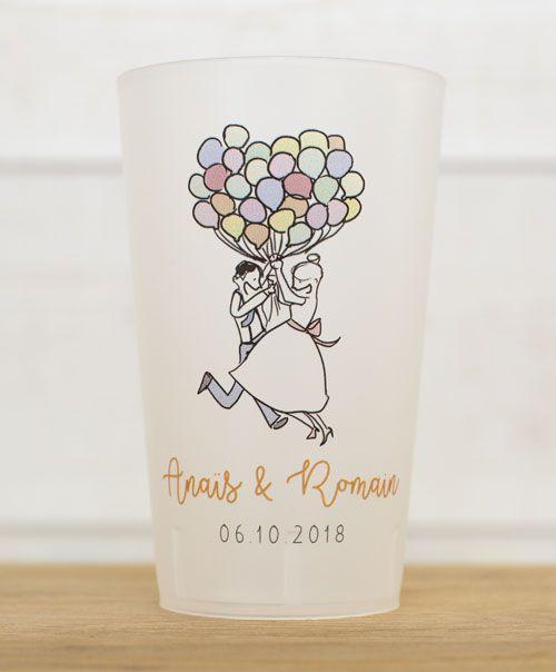 gobelet mariage ballons cadeaux de mariage
