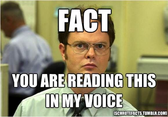 YUP. Bears eat beets. Bears. Beets. Battlestar Galactica! *and you just read this in Jim's voice *