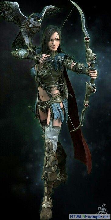 FANTASY Helena the Archer- by Marthin Agusta Simney #Art#Fantasy#Archer
