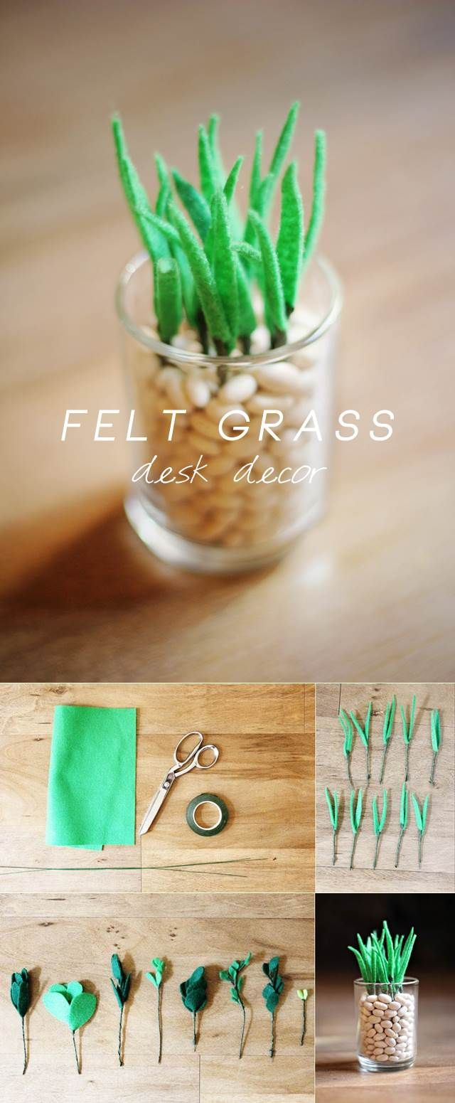 Felt grass desk decor | DIY Stuff https://www.etsy.com/people/Majalena?ref=si_pr