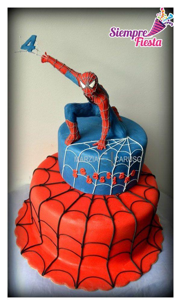 ideas para pasteles de fiesta o de cumplea os de spiderman hombre ara a encuentra nuestros. Black Bedroom Furniture Sets. Home Design Ideas