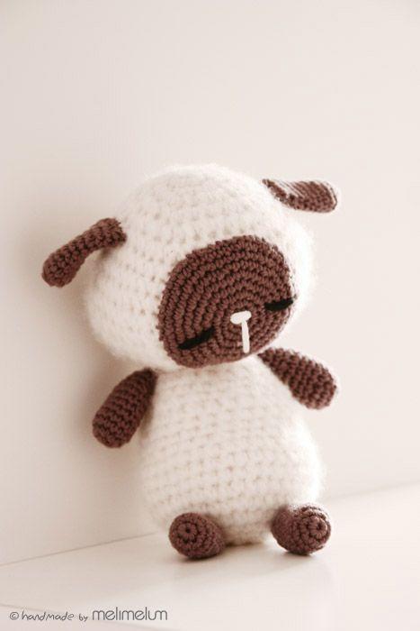 Sleeping Lamb Amigurumi - FREE Crochet Pattern / Tutorial, thanks so xox  ☆ ★   https://www.pinterest.com/peacefuldoves/