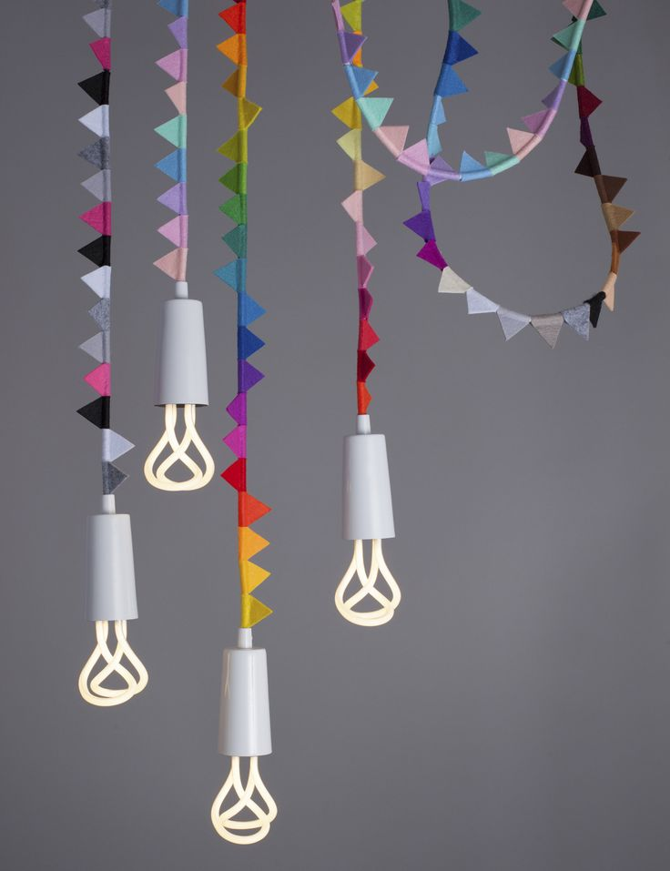 The newest addition to Plumen's curated collection - Modern Family bunting pendant lighting fixtures.