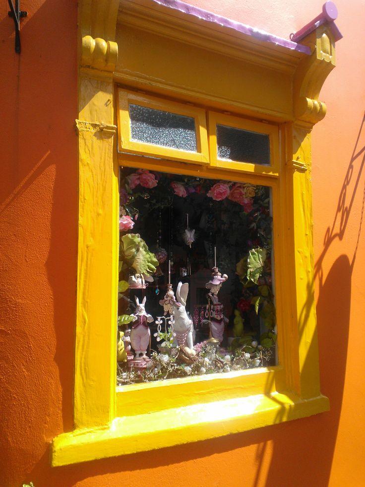 A colourful window in Kinsale.