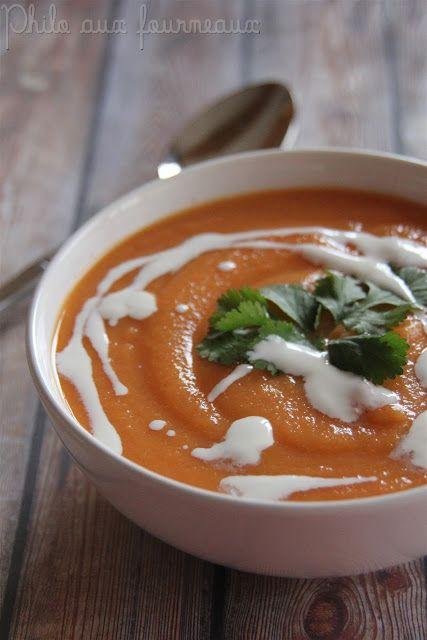 Soupe de carottes & de lentilles corail