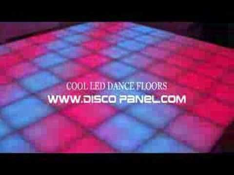 http://www.disco-designer.com/ This Innovative LED Dance Floor - illuminated dance floor creating 16 million lighting colors, standart DMX 512 controllable 20mm thick white plastic , portable, unbreakable tiles.  Cool Retro Modern stuff, Controlled by DJ Light Studio lighting control software