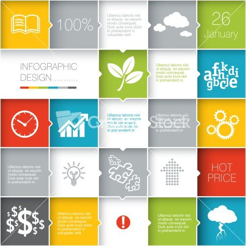 Squares Background. Vector Template For Interface Or Infographic Ready To Place For Your Content Stock Image